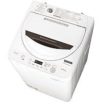 シャープ 全自動洗濯機 ステンレス槽 5.5kg ホワイト系 ES-GA5B-W