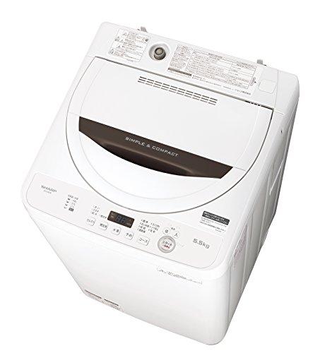 シャープ 全自動洗濯機 ステンレス槽 5.5kg ホワイト系...