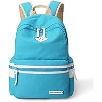 School Backpack School Bags for Teenagers Girls Schoolbag Large Capacity Lady Canvas Backpack Rucksack Bagpack Bookbag Female Travel Bags (Color : Sky Blue, Size : -)