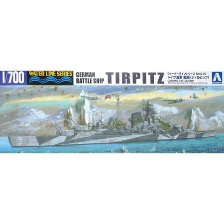 1/700 ウォーターライン No.619 ドイツ戦艦 ティルピッツ