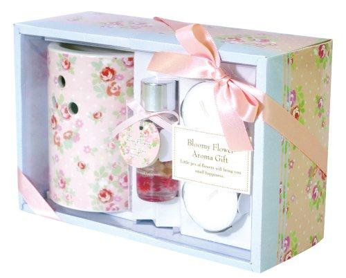 ノルコーポレーション リードディフューザー ブルーミーフラワー ギフトセット ローズフラワーの香り ピンク OA-BHG-1-1