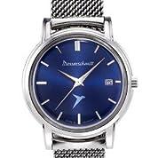 腕時計 Messerschmitt Radiant Blue Dial Special Edition Quartz Dress Watch KR200-Bmil【並行輸入品】