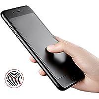 Benks iPhone 7/8 指紋防止 液晶保護フィルム 強化ガラス フィルム 硬度9H アンチグレア 極薄0.23mm 3D曲面全体カバー 高透過率 3D Touch対応 耐摩擦 撥油性 疎水性 (iPhone7/8 ブラック)