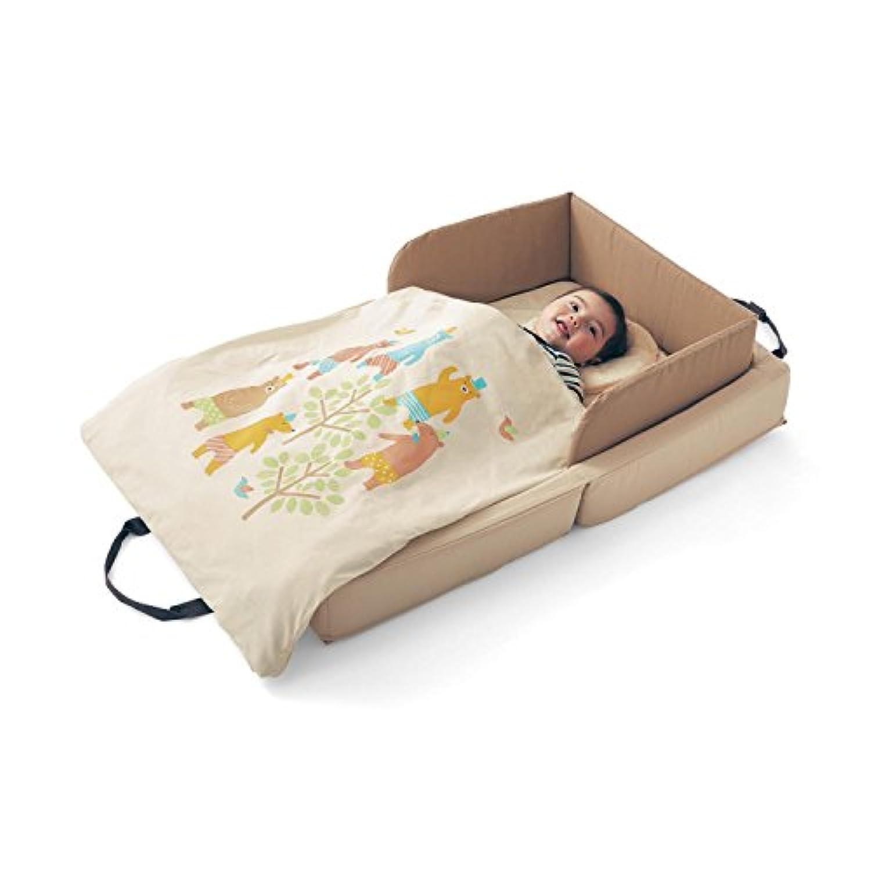 [ベルメゾン] 持ち運びできる コンパクト ベビーベッド セット クマ
