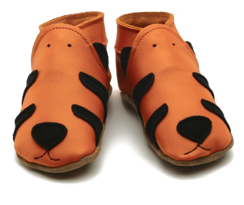 【英国製カーフレザーベビーシューズ】?タイガーtiger orange Lサイズ?