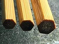 B7005バンブー フライロッド製作用 六角バンブー(竹) ブランク TONKIN Cane 7.6ft 5wt 2ピース(予備ティップあり) @
