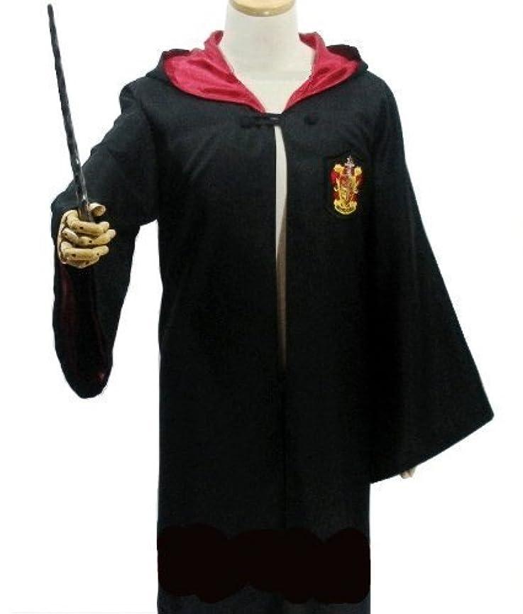 ゴルフ受粉するチャールズキージングハリーポッター グリフィンドール 衣装4点セット (ローブ + 眼鏡 + ネクタイ + 魔法の杖) コスチューム Lサイズ