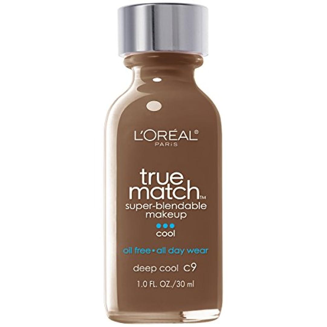 クランシーセットするお気に入りL'Oréal True Match Super-Blendable Foundation Makeup (DEEP COOL)