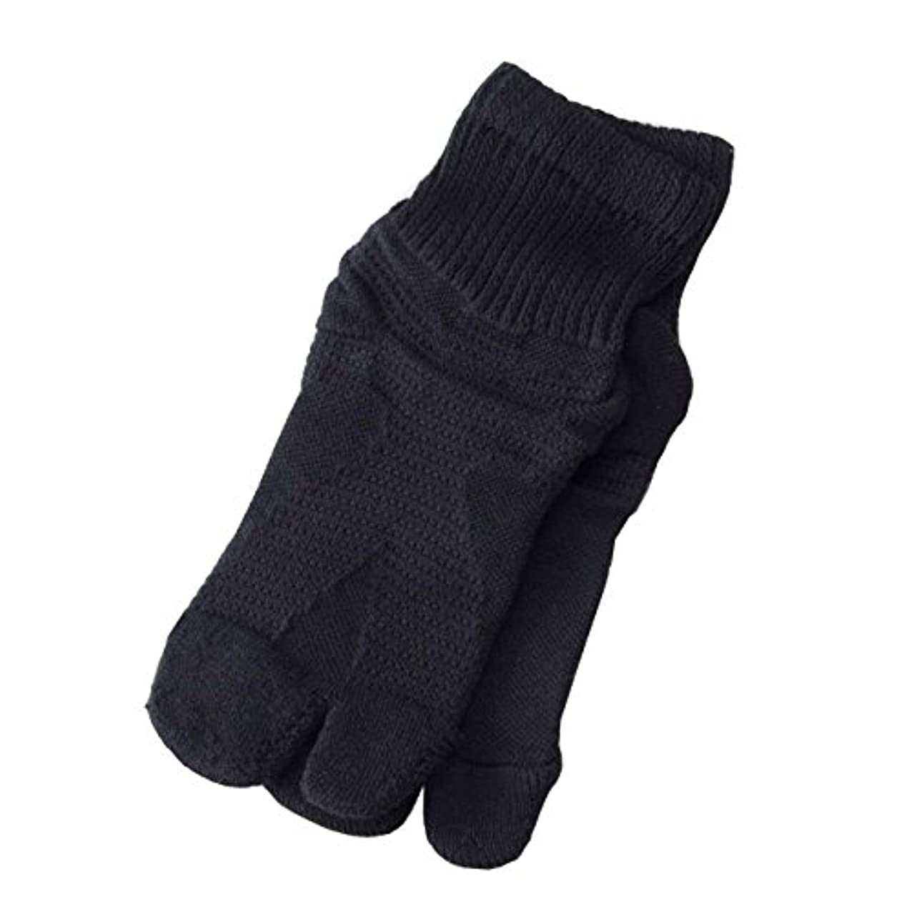 懇願する最適膨らませる【日本製】歩行サポート足袋ソックス (ブラック, 23~25cm)