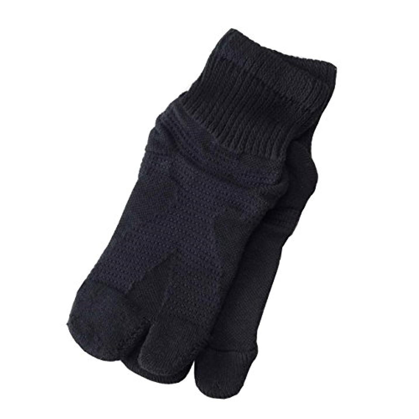 キャラクター統計的彼女【日本製】歩行サポート足袋ソックス (ブラック, 23~25cm)