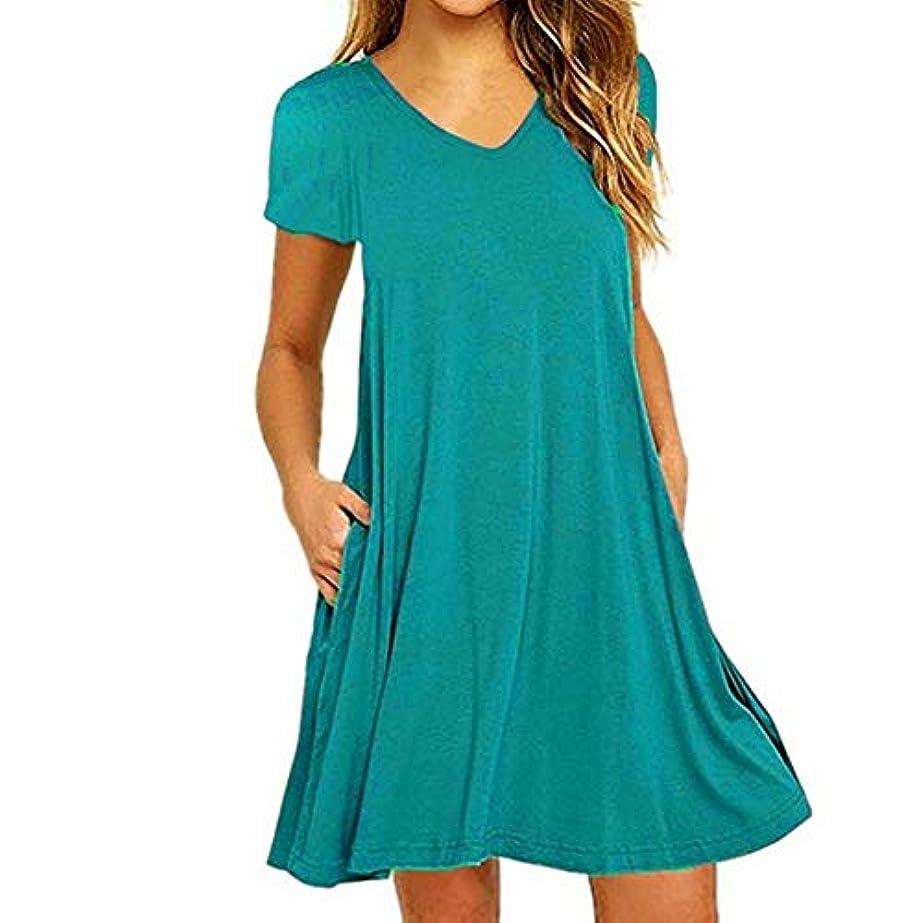 うなる天の海港MIFAN の女性のドレスカジュアルな不規則なドレスルースサマービーチTシャツドレス