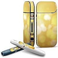 IQOS 2.4 plus 専用スキンシール COMPLETE アイコス 全面セット サイド ボタン デコ その他 シンプル 黄色 001876