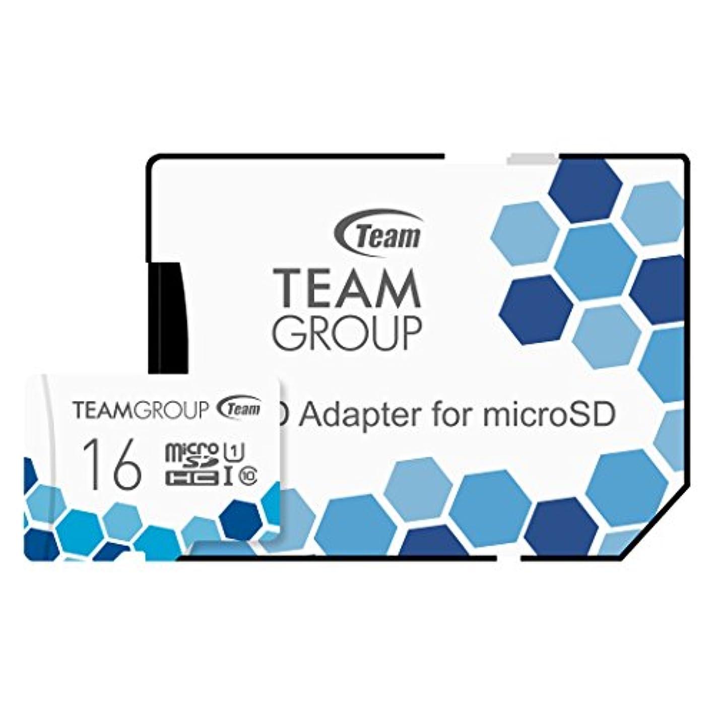 結婚記述するのりTeam microSDHCカード 16GB 高速転送UHS-1 日本国内10年保証 SD変換アダプター付属 正規品
