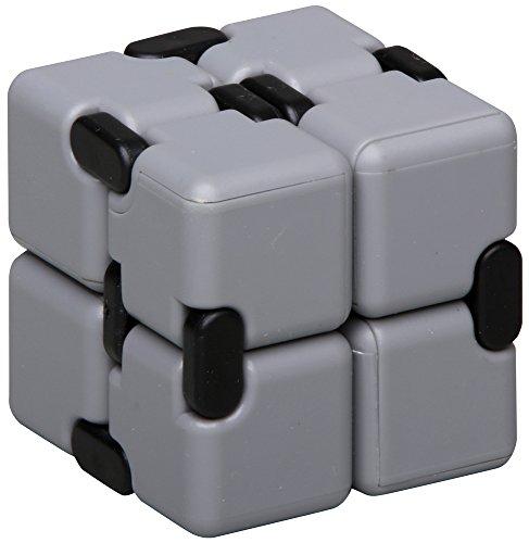 inFIT Fidget Infinity Cube ストレス解消 無限キューブ 任意の方向と角度から回転するフィジェットインフィニティキューブ FIC450GY D.グレー/ブラック