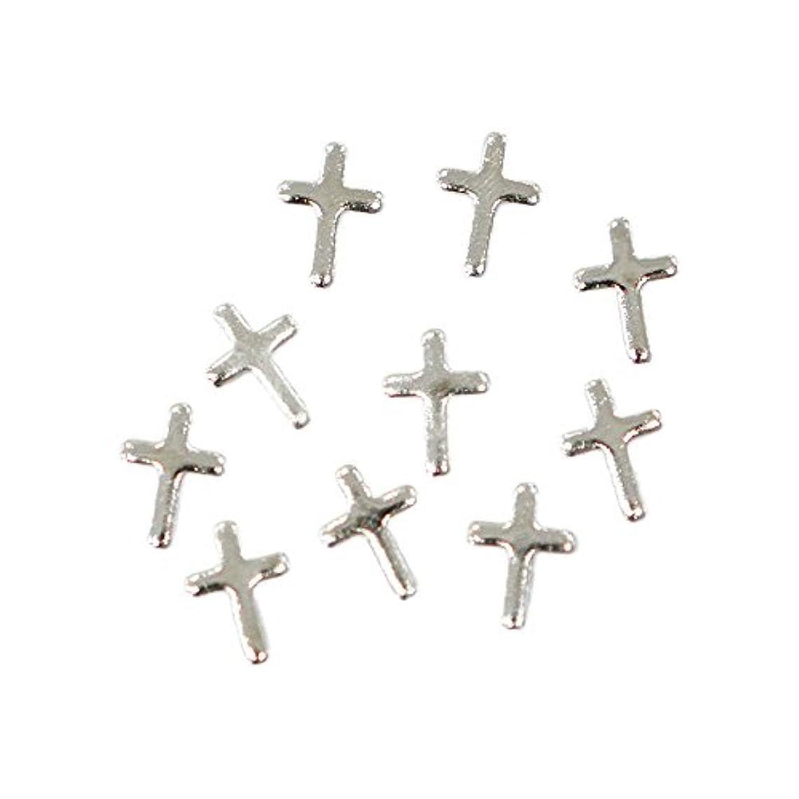 感謝祭風が強い誰メタルパーツ クロスプレート 3mm×5mm シルバー 10個 MP10166