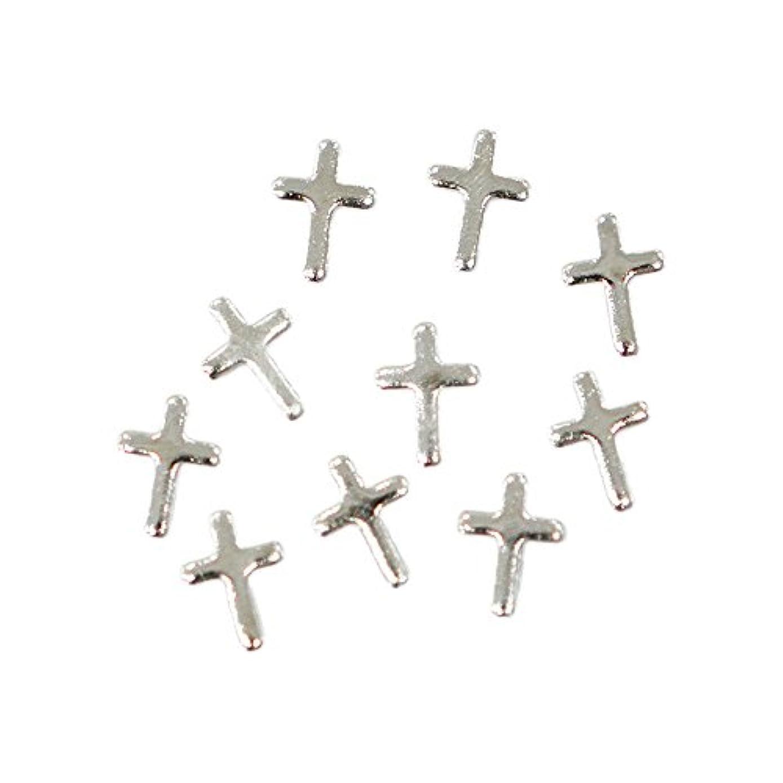 スリンクベンチャー矢メタルパーツ クロスプレート 3mm×5mm シルバー 10個 MP10166