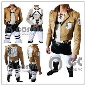 進撃の巨人 調査兵団 衣装 マント付き コスチューム