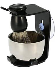 3 In 1 Men's Shaving Razor Set Badger Hair Shaving Brush Stand Razor Holder