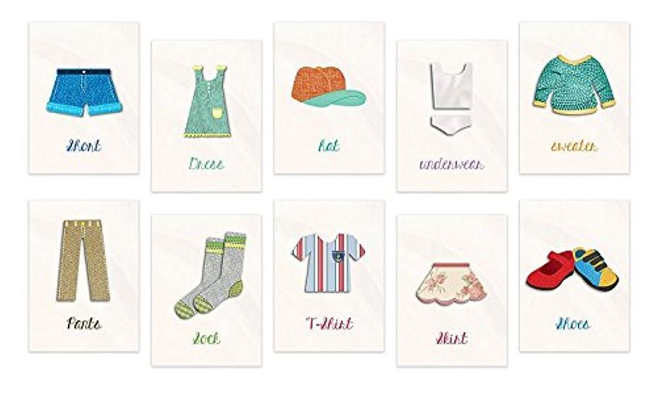 容器消すどれかフラッシュカードfor Kids My服にフラッシュカード、印刷のコレクション、ベビーシャワーのギフト、保育園装飾、子どもの装飾、服フラッシュカード 11x14 WALCLOTH001ENxxxCV1114.m