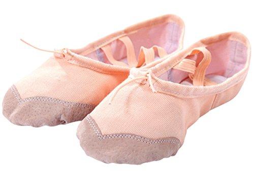 バレエシューズ 子供用 バレエ フルソール 布製 子供から大人まで キッズ ピンク 19cm