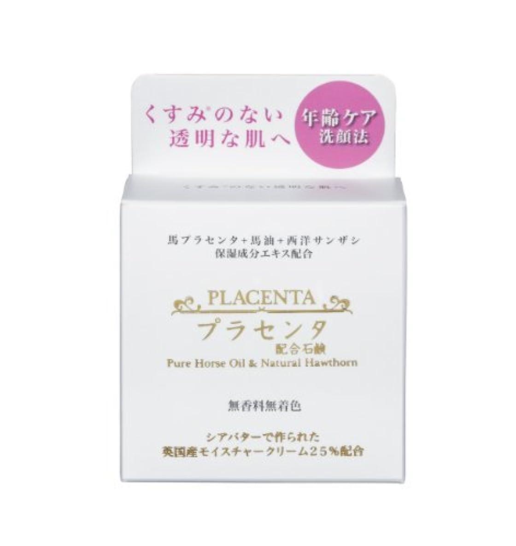 俳句港考古学的なプラセンタ+馬油&西洋サンザシ石鹸 80g