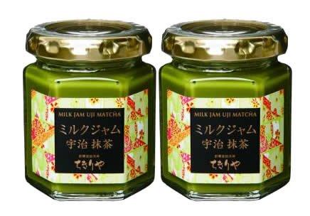 【京銘茶・ちきりや】ミルクジャム宇治抹茶(2個化粧箱入り)