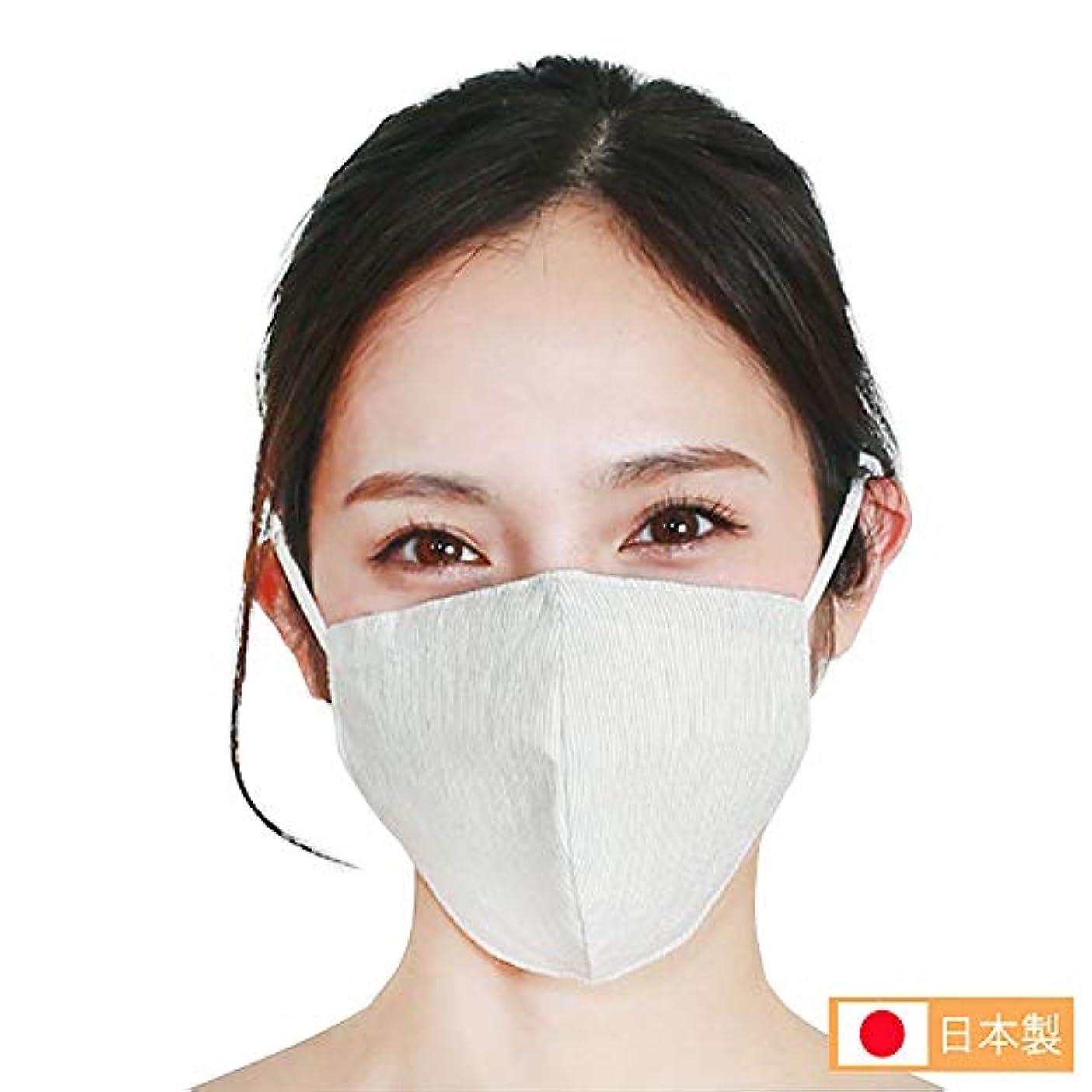 フリッパー混乱土H12-0012_NTL-SM ファブリックケアマスク(オーガニックコットンタイプ/S-Mサイズ/ナチュラル)肌側シルク100% 洗える 耳が痛くならない 花粉除去率96%