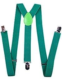 Y型サスペンダー 幅2.5cm グリーン