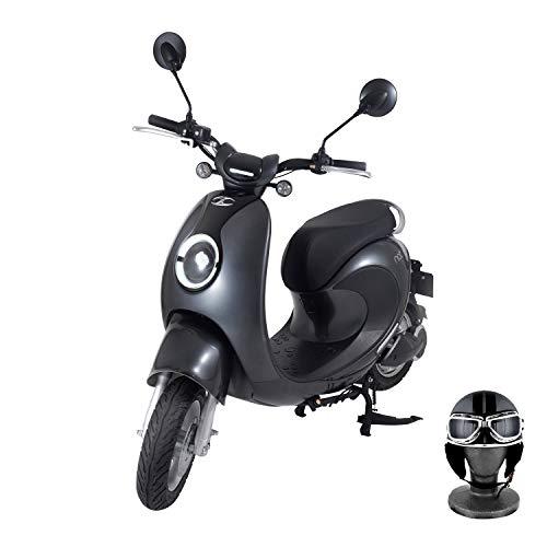 【Amazon.co.jp限定】 電動バイク XEAM notte V2 メタルグレー【限定特典】 専用ヘルメット メタルグレー XM-AZNMGYHGMGY