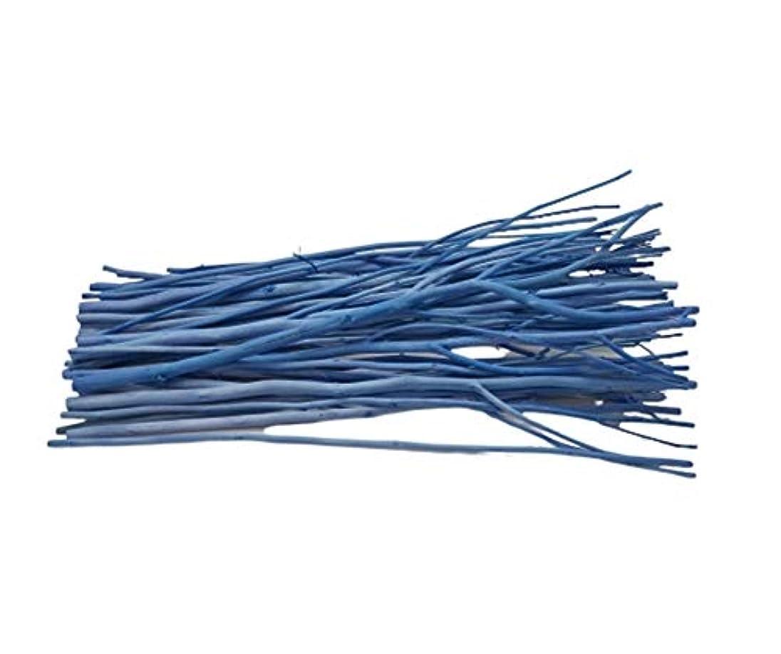 タンザニア路地酸素(ブリリアントバンク)Brilliant Bank BLUE カラーリードスティック リードディフューザー 用 リフィル リードスティック アレンジウッドスティック (50本, BLUE)