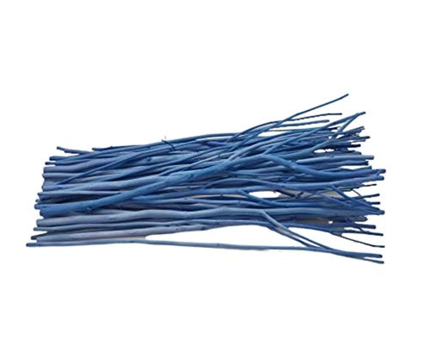 静めるいたずら最初(ブリリアントバンク)Brilliant Bank BLUE カラーリードスティック リードディフューザー 用 リフィル リードスティック アレンジウッドスティック (50本, BLUE)