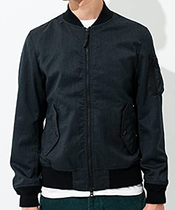 Wool Polyester Serge MA-1 Blouson 3225-186-1819: Grey