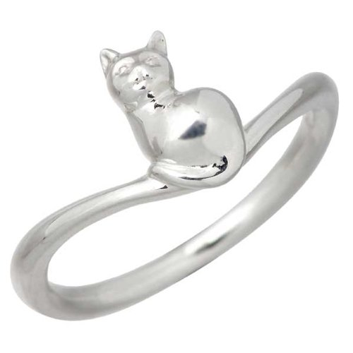 Blue Cat ブルーキャット シルバー ネコ リング 指輪 7~15号 SRV509-0926