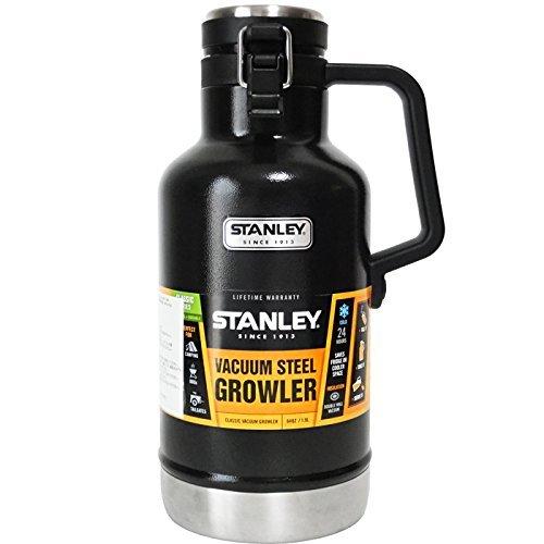 STANLEY(スタンレー) 真空断熱ボトル グロウラー VACUUM STEEL GROWLER 1.89L ステンレス製携帯用魔法瓶 メタルブラック