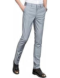 JapHot メンズ スラックス ビジネス ノータック クールビズ スリム ウォッシャブル 通勤 ストレッチパンツ ロングパンツ スーツパンツ 高品質 大きいサイズ 薄手