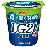 明治プロビオヨーグルトLG21 アロエ脂肪0(ゼロ)112g×12個