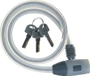 J&C(ジェイアンドシー) ワイヤーロック [JC-020W] φ10mm×600mm ホワイト
