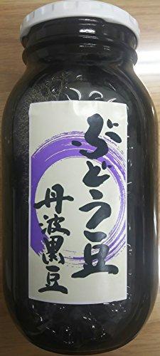 丹波黒豆(ぶどう豆)甘露煮 1000g(固形650g)×12本 業務用 開封後そのままお召し上がり頂けます。