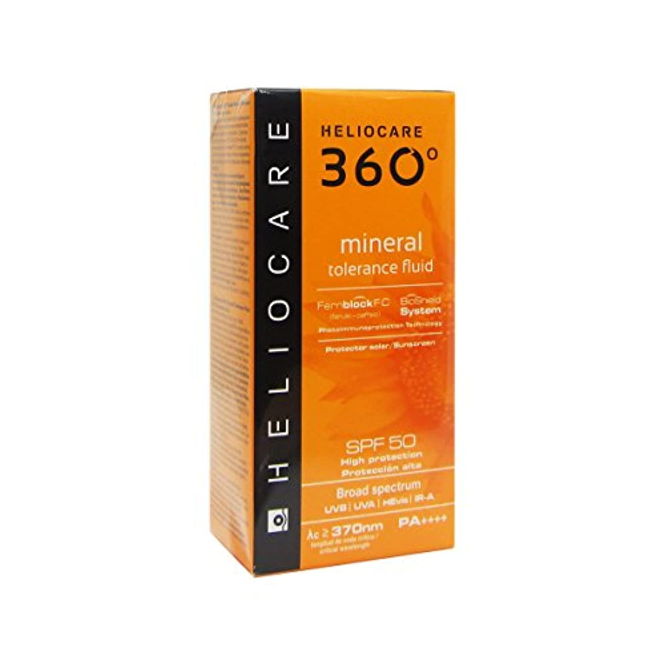 一回真剣に罪Heliocare 360 Mineral Tolerance Fluid Spf50 50ml [並行輸入品]