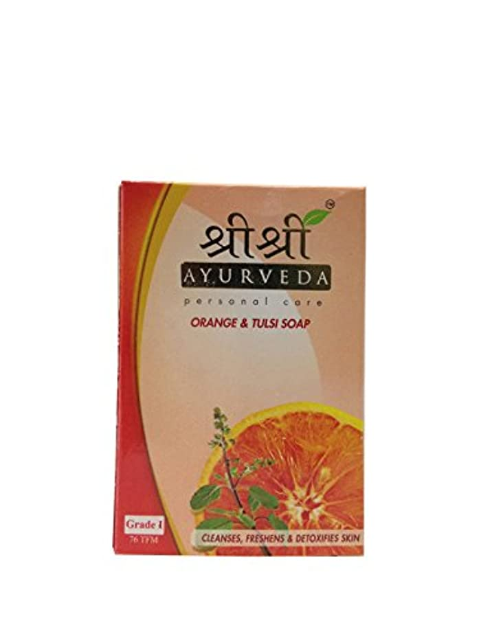 厚さラベル遠近法Sri Sri Ayurveda Orange & Tulsi Soap 100g…