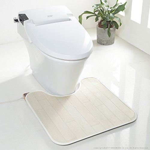 [本体+カバー] 木目調 床暖房 トイレマット 2点セット ...