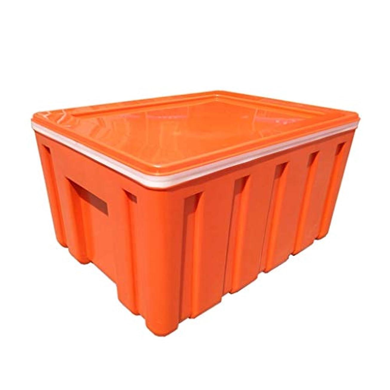 蒸留する文明リングバック食品クーラーボックス、テイクアウト多機能食品配達クーラーボックス冷凍耐久バリア絶縁耐電圧絶縁ボックス (色 : Orange)
