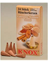 Knoxアーモンド香りGerman Incense Conesドイツ製forクリスマスSmokers