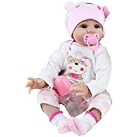 生き生きしたリボーンベビードール55センチメートル新生児の子供の女の子の遊び誕生日の贈り物 Redvive