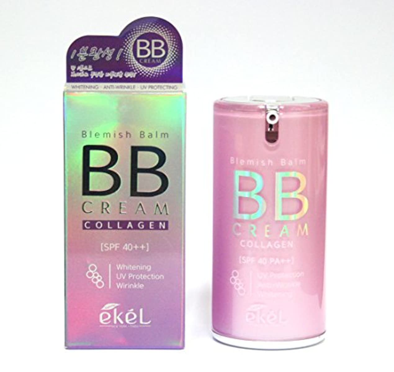 財団背景文言[EKEL] ブレミッシュバームコラーゲンBBクリーム50g / Blemish Balm Collagen BB Cream 50g /ホワイトニング、UV保護、しわ / whitening, uv protection...