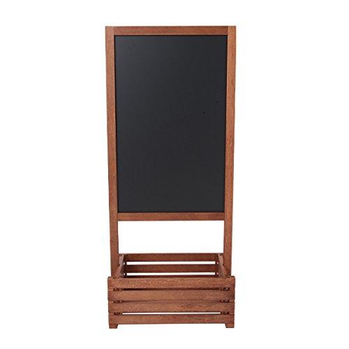 ボックス付き スタンドボード 幅52×122cm [ メニューボード ウェルカムボード ブラックボード 立て看板 看板 黒板 ウッドボード ウェディング カフェ インテリア サロン 飲食店 両面 木製 ]