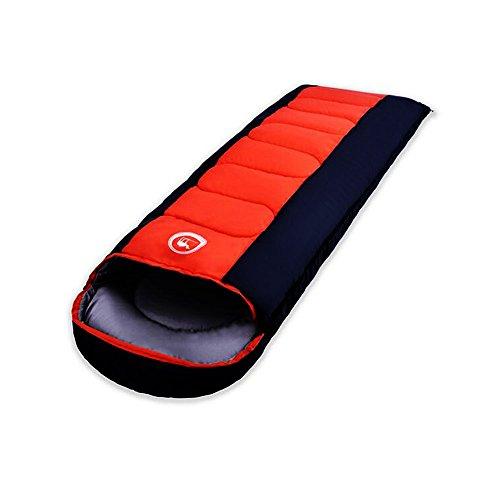 Shamo Camel 寝袋 シュラフ スリーピングバッグ 封筒型 コンパクト 軽量 丸洗い 最低使用温度-5度 収納袋 3カラー -028 (レッド)