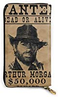 Arthur Morgan 長財布 本革 カード ケース メンズ レディース レザー ウォレット サイフ 小銭入れ 収納 大容量 ジッパー財布