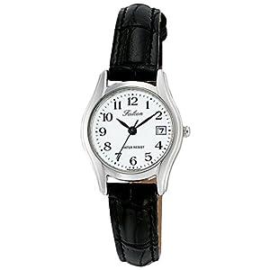 [シチズン キューアンドキュー]CITIZEN Q&Q 腕時計 Falcon ファルコン アナログ 革ベルト 日付 表示 ホワイト D017-304 レディース