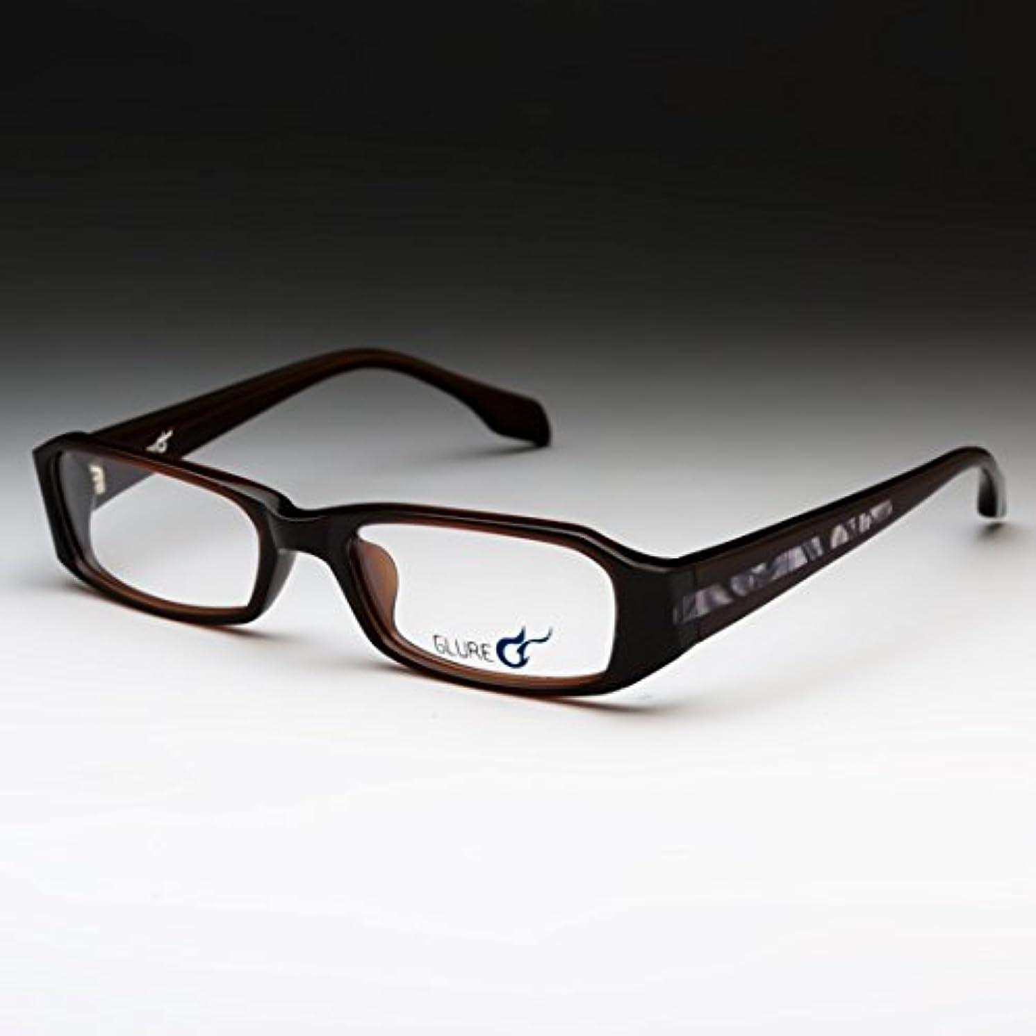 セマフォに他の場所グルール(GLURE) 老眼鏡 かっこいい スクエア ブラウン メンズ ケース付き SP30C5 (度数+2.00)